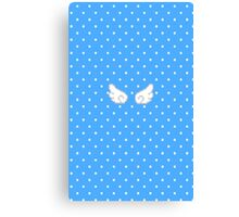 Pixel Kawaii Wings (Blue) Canvas Print