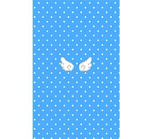 Pixel Kawaii Wings (Blue) Photographic Print
