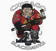 Chicago Blackhawk Skate or Die Baby Tee