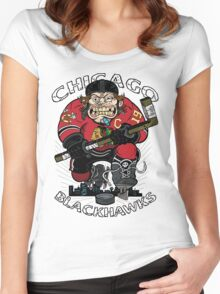 Chicago Blackhawk Skate or Die Women's Fitted Scoop T-Shirt