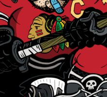 Chicago Blackhawk Skate or Die Sticker