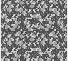 Hexagon Camo - Black and White Photographic Print