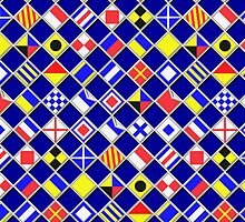Checkered Nautical Signal Flags  by Garaga