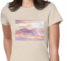 Indian Summer Sky Womens Fitted T-Shirt