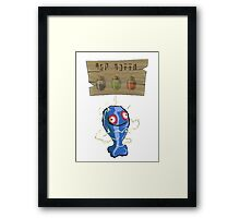 Chu Jelly Juice (Blue Chu) Framed Print