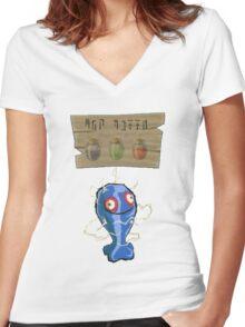 Chu Jelly Juice (Blue Chu) Women's Fitted V-Neck T-Shirt