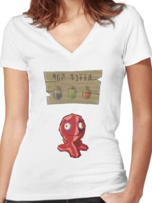 Chu Jelly Juice (Red Chu) Women's Fitted V-Neck T-Shirt