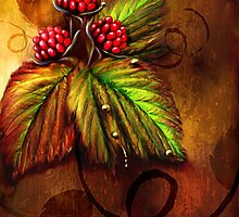 Raspberries & Raindrops by Renee Dawson