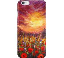 Sunset Red poppy valley iPhone Case/Skin