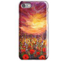 Sunset Red poppy valley iPhone Case/Skin