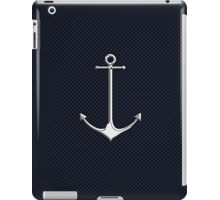 Chrome Style Nautical Thin Anchor Applique iPad Case/Skin