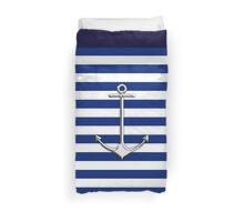 Chrome Style Nautical Thin Anchor Applique Duvet Cover