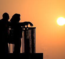 Watching the sunset by Moshe Cohen