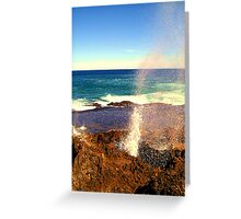 blow holes Greeting Card