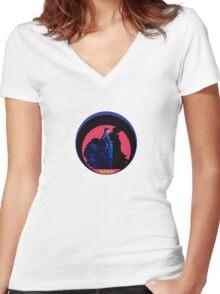 Serie 3/4. Nº 24 Flamenco OLE OLE Women's Fitted V-Neck T-Shirt