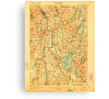 Maine USGS Historical Map Livermore 807555 1912 62500 Canvas Print