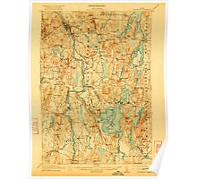 Maine USGS Historical Map Livermore 807555 1912 62500 Poster