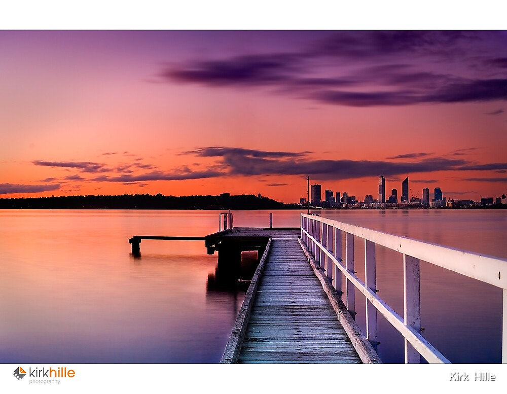 Jetty Sunset by Kirk  Hille