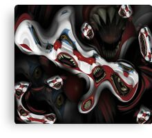 evil clown Canvas Print