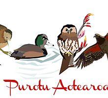Purotu Aotearoa - Bird of New Zealand by Ira Mitchell-Kirk