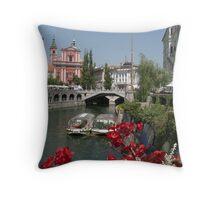 On Tour in Europe - Slovenia  Throw Pillow