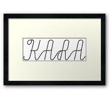 KARA - DAY NIGHT Framed Print
