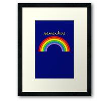Somewhere Over The Rainbow Framed Print