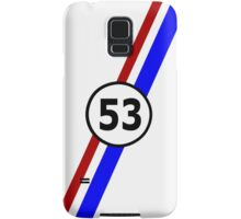 VW 53, Herbie the Love Bug's racing stripes and number 53 Samsung Galaxy Case/Skin