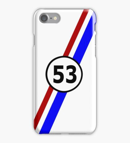 VW 53, the Love Bug's racing stripes and number 53 iPhone Case/Skin