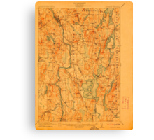 Maine USGS Historical Map Livermore 807556 1912 62500 Canvas Print