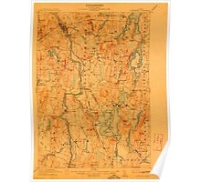 Maine USGS Historical Map Livermore 807556 1912 62500 Poster