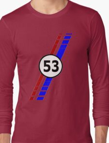 VW 53, Herbie the Love Bug's racing stripes and number 53 Long Sleeve T-Shirt