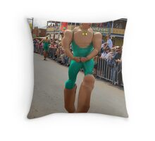 Muscle Man Throw Pillow