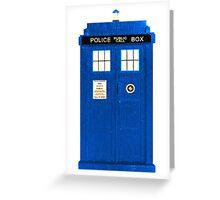 TARDIS Plain & Simple (Leggings & Duvet Cover) Greeting Card