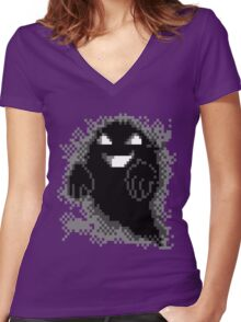 Lavender Town - Ghost Women's Fitted V-Neck T-Shirt