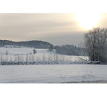 Snowfields under the Sun  Photographic Print