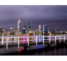 Stormy Perth Night by Kirk  Hille