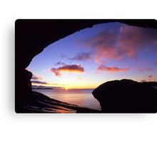 Wave Rock Sunset Canvas Print