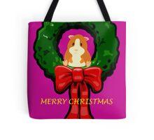 MERRY CHRISTMAS GUINEA PIG / HAMSTER Tote Bag