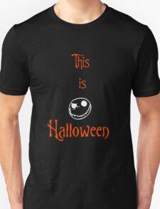This is Halloween (Orange & White) T-Shirt