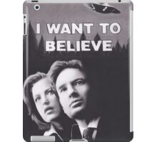 I Want to Believe X Files iPad Case/Skin