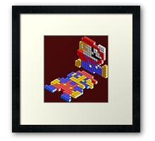 lego mario Framed Print