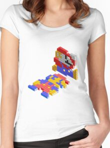 lego mario Women's Fitted Scoop T-Shirt