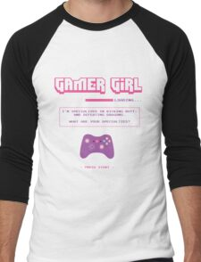 Gamer Girl Men's Baseball ¾ T-Shirt