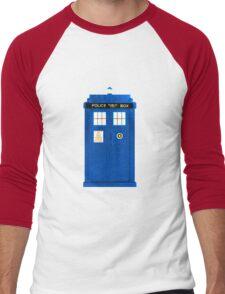 TARDIS Plain & Simple Men's Baseball ¾ T-Shirt