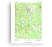 Maine USGS Historical Map Livermore Falls 460574 1967 24000 Canvas Print