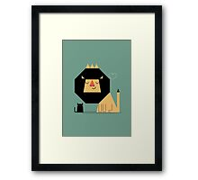 Love Lion Framed Print