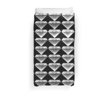 Black and White Diamonds - Geometric Jewels Duvet Cover