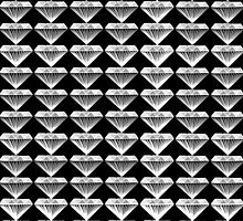 Black and White Diamonds - Geometric Jewels by CorrieJacobs