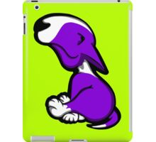Innocent English Bull Terrier Puppy Purple  iPad Case/Skin